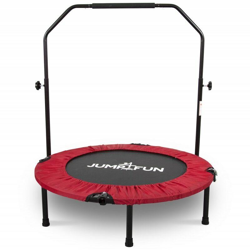 Mini Trampoline Fitness Pliable Double-Bar - Ø92cm Rouge - Rouge - Jump4fun