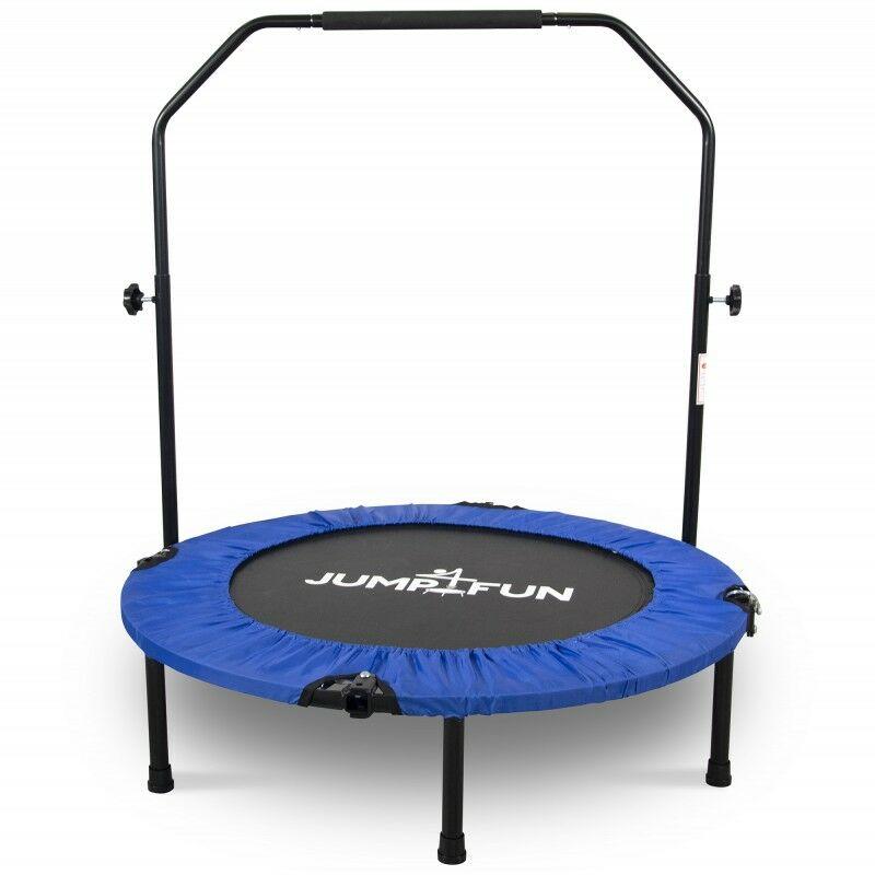 Mini Trampoline Fitness Pliable Double-Bar - Ø92cm Bleu - Bleu - Jump4fun