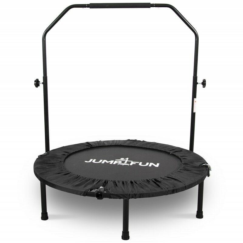 Mini Trampoline Fitness Pliable Double-Bar - Ø92cm Noir - Noir - Jump4fun