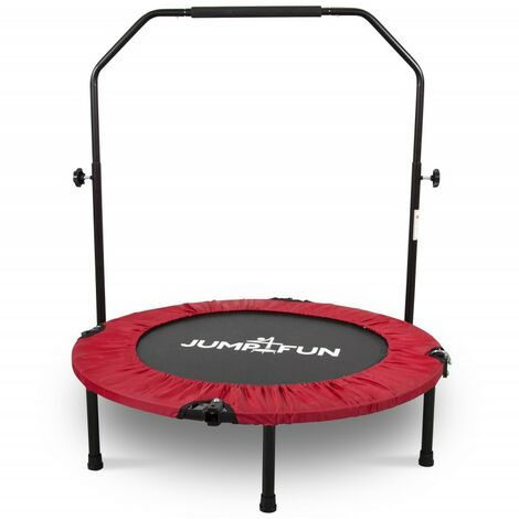 Mini Trampoline Fitness Jump4fun Double-Bar Pliable Ø92cm - Choix couleurs