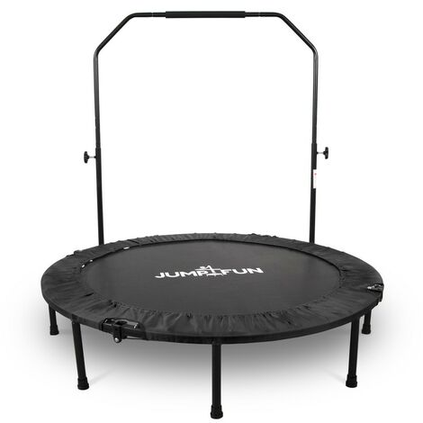 Mini Trampoline Fitness Jump4fun Pliable Double-Bar - Ø122cm - Choix couleur