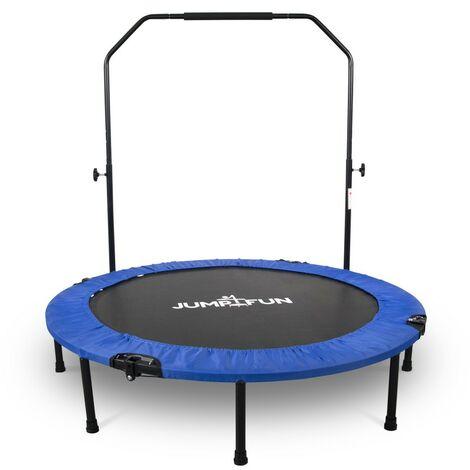 Mini Trampoline Fitness Jump4fun Pliable Double-Bar - Ø122cm - Choix couleur