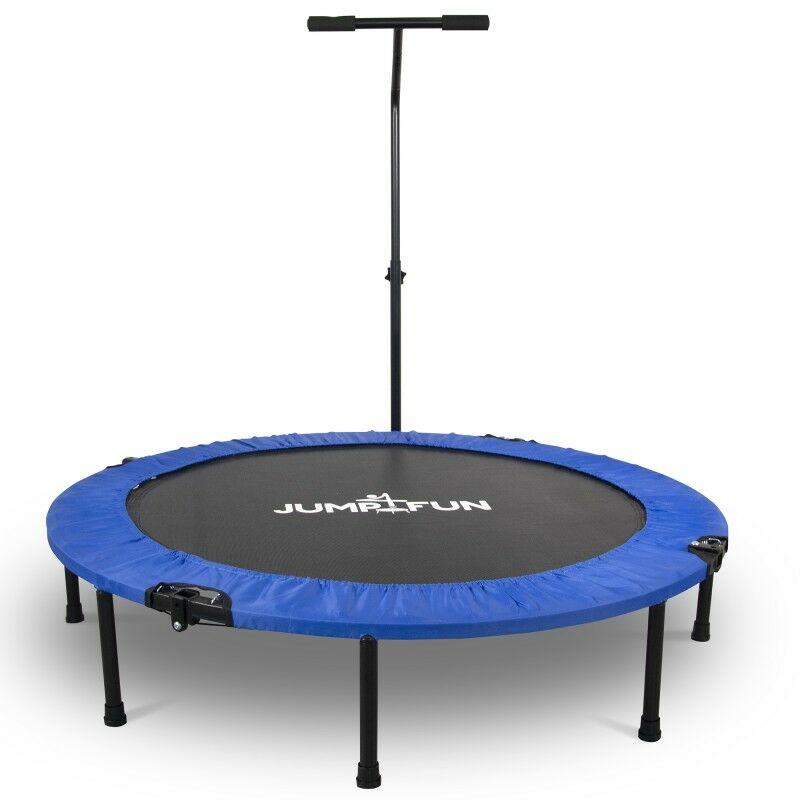 Mini Trampoline Fitness Pliable T-Bar - Ø122cm Bleu - Bleu - Jump4fun