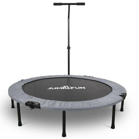 Mini Trampoline Fitness Jump4fun Pliable T-Bar - Ø122cm - Choix couleur