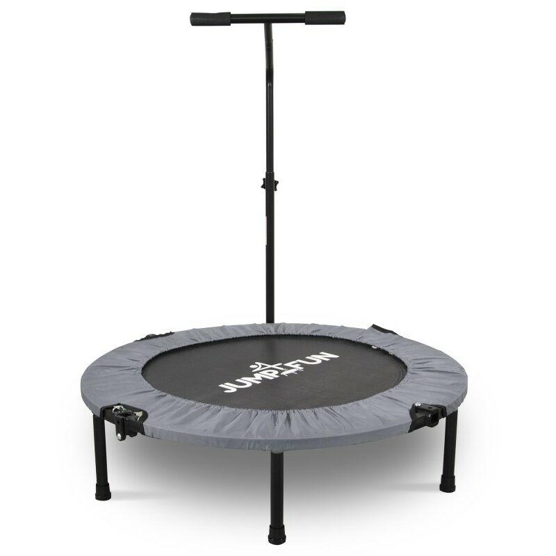 Mini Trampoline Fitness Pliable T-Bar - Ø92cm Gris - Gris - Jump4fun