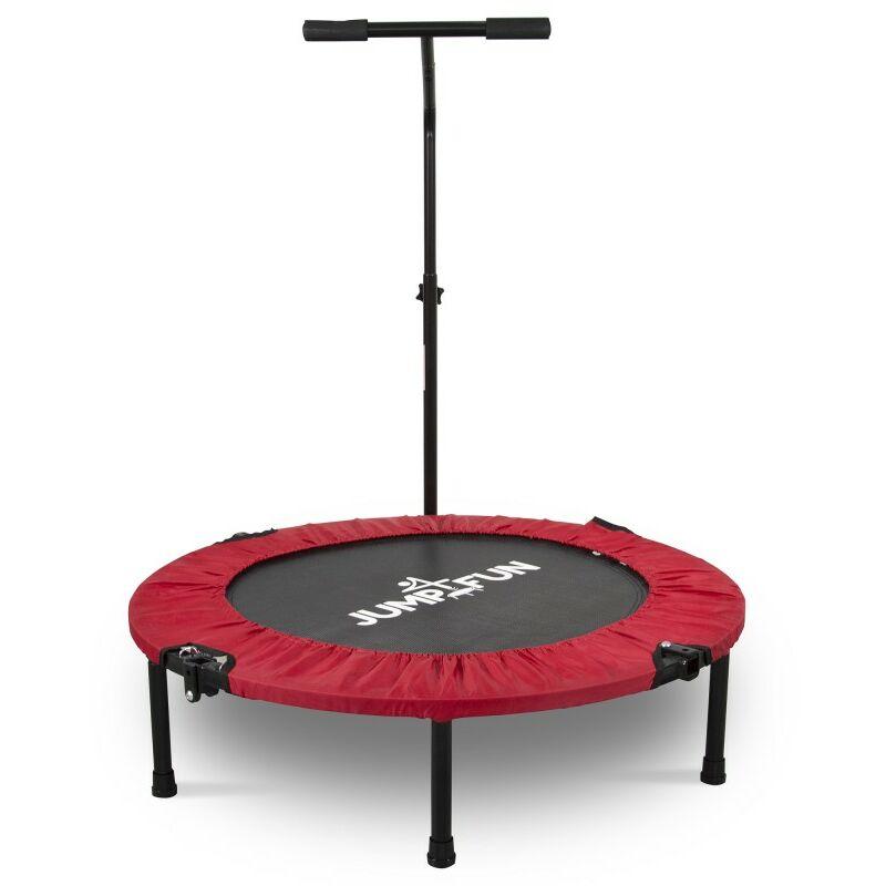 Mini Trampoline Fitness Pliable T-Bar - Ø92cm Rouge - Rouge - Jump4fun