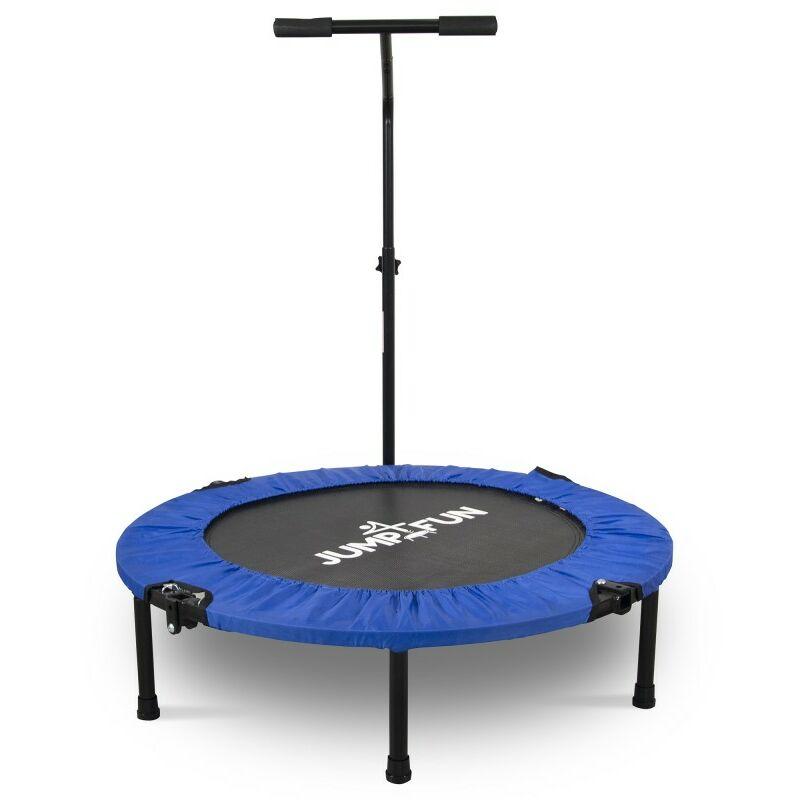 Mini Trampoline Fitness Pliable T-Bar - Ø92cm Bleu - Bleu - Jump4fun