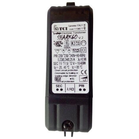 Mini transformador electrónico TCI regulable 10-60W 220/240V 119677