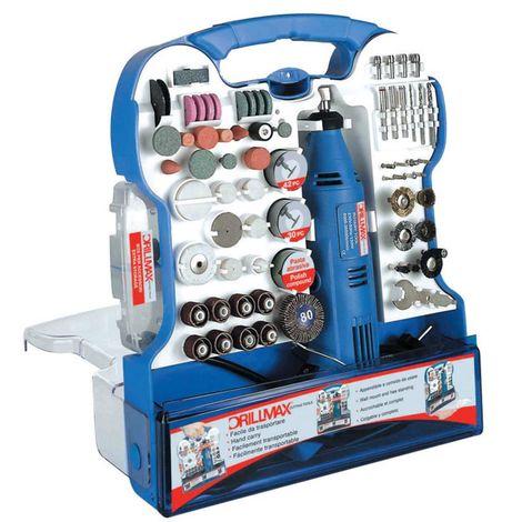 Mini trapano Drill Max multifunzione 130W + 158 accessori bricolage fai da te