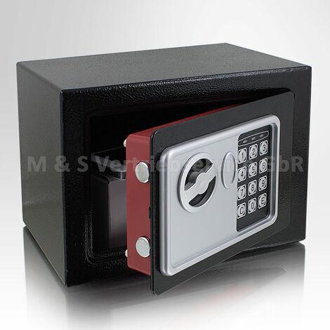 Mini Tresor Zahlenschloss elektronisch Minisafe Wandtresor Wandsafe schwarz Safe Maße(B/H/T): 230mm x 170mm x 170mm Türstärke: 3 mm