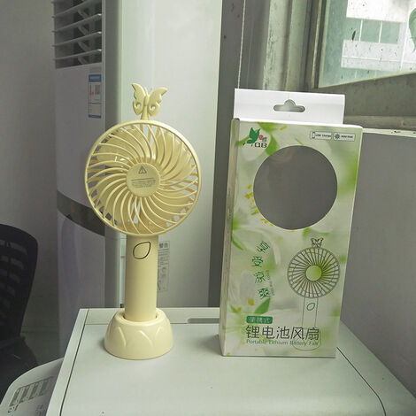 Mini USB Fan, Portable Hand Fan 3 Speed Table Fan With Rechargeable Battery For Summer Travel Match Outdoor Offices Bedroom And