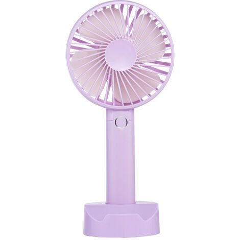 Mini USB Fan, Portable Hand Fan 3 Speed Table Fan with Rechargeable Battery for Summer Travel Match Outdoor Offices Bedroom and, a