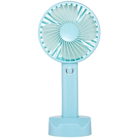 Mini USB Fan, Portable Hand Fan 3 Speed Table Fan with Rechargeable Battery for Summer Travel Match Outdoor Offices Bedroom and, blue