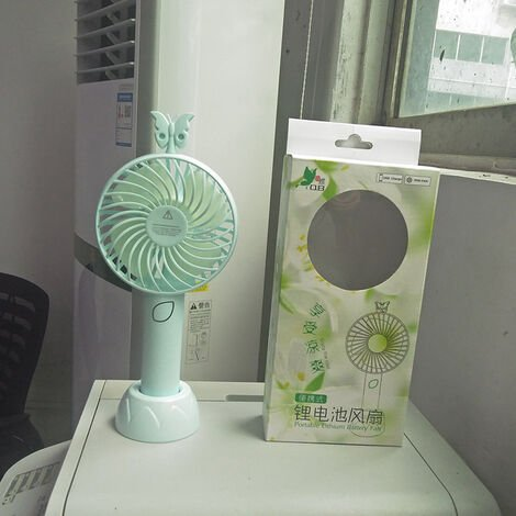 Mini USB Fan, Portable Hand Fan 3 Speed Table Fan With Rechargeable Battery For Summer Travel Match Outdoor Offices Bedroom And, Blue,a