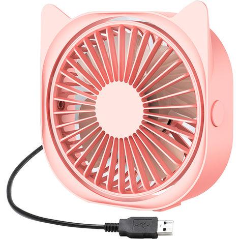 Mini ventilador del escritorio, 3 Velocidad ventilador portatil, ventilador del escritorio, ROSA