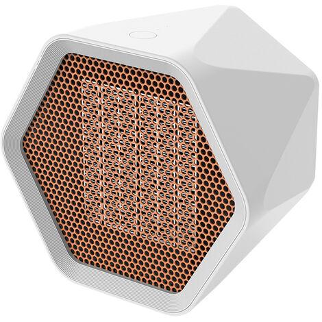 Mini Ventilateur Chauffe Hexagon Electrique Chauffe Bureau Warmer Chambre De Chauffage Domestique Ventilateur Machine Pour L'Hiver, Blanc