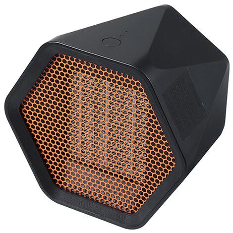 Mini Ventilateur Chauffe Hexagon Electrique Chauffe Bureau Warmer Chambre De Chauffage Domestique Ventilateur Machine Pour L'Hiver, Noir