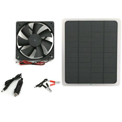 Mini ventilateur de ventilateur de panneau solaire 20W pour RV de serre de maison de poulet de chien