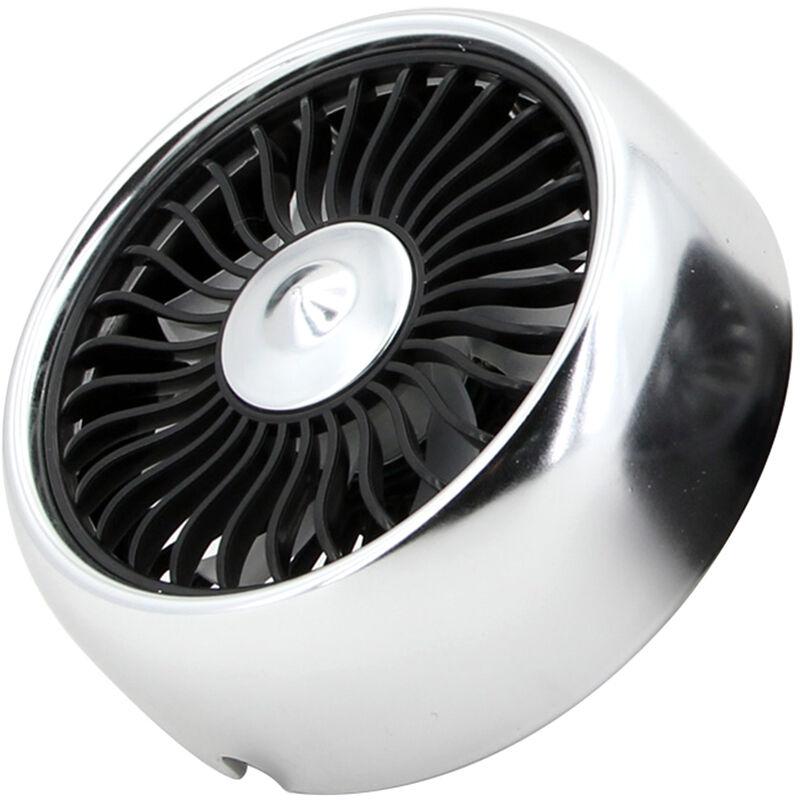 Mini Ventilateur De Voiture Pour Event/Tableau De Bord 3 Vitesses Ventilateur De Refroidissement Usb Avec Cable Lumiere Led Coloree Integree, Avec