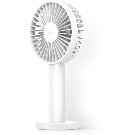 Mini Ventilateur, Rechargeable, Batterie 3350Mah, 3 Vitesses, Blanc, Xiaomi