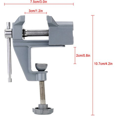 Mini Vise Taladro electrico Stent Clip-on Joya Abrazadera de mesa Vice