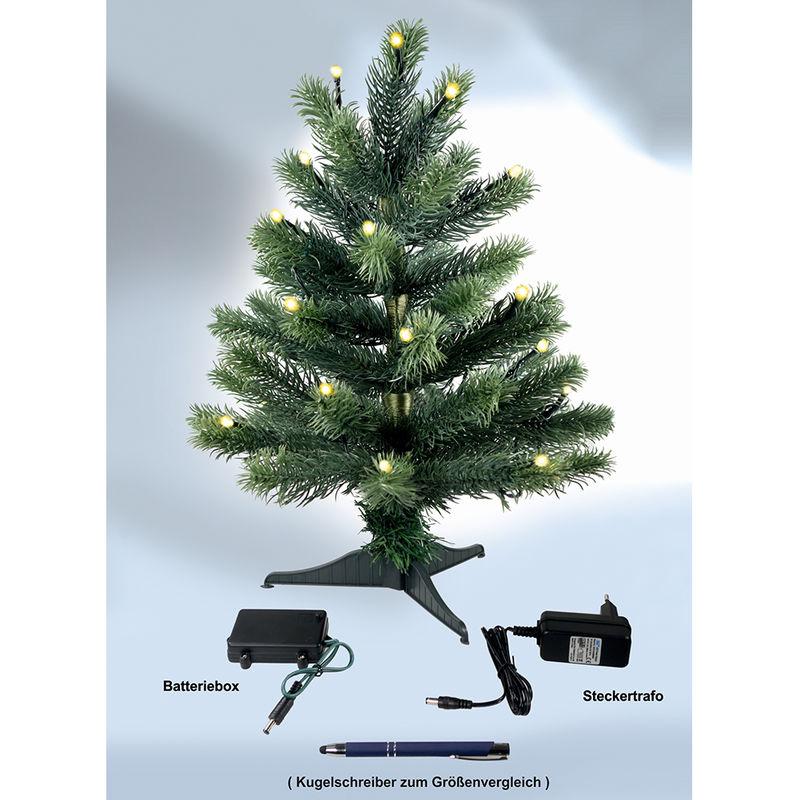 Kleiner Weihnachtsbaum Mit Beleuchtung.Mini Weihnachtsbaum 45 Cm Mit Led Beleuchtung Inkl Standfuss