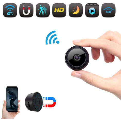 Mini WiFi Vision nocturne sans fil Moniteur de caméra IP de sécurité à domicile intelligent HD 1080P Maison intérieure Petites caméras de sécurité cachées alimentées par batterie avec détection de mouvement / vision nocturne