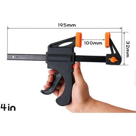 """main image of """"Mini Woodworking Clamp Fixing Tool A F Clamp Wood Clamping Tool Quick Clamp Tool One Hand Clamp Utility Tool"""""""