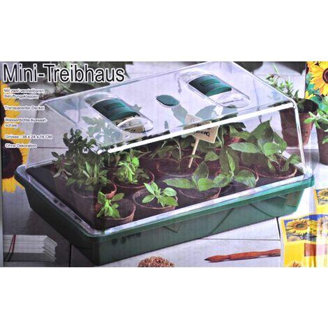 Mini-Zimmergewächshaus Anzuchttöpfe Anzuchtschale Frühbeet Treibhaus Gewächshaus