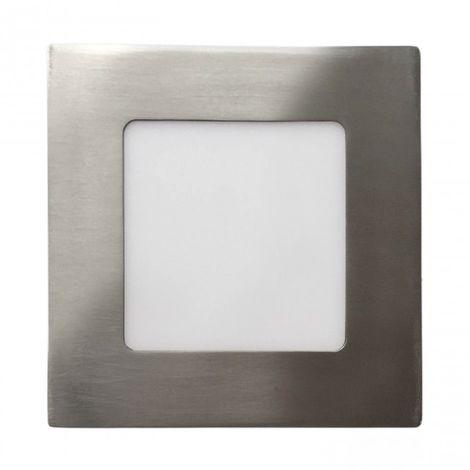 Minidownlight cuadrado plano LED 6W 4000K Niquel
