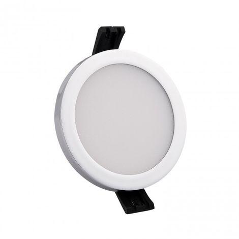 Minidownlight LED circulo 6W 4000k color cromo