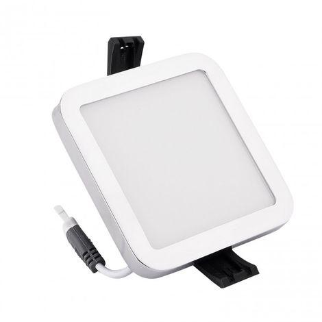 Minidownlight LED cuadrado 6W 4000K blanco