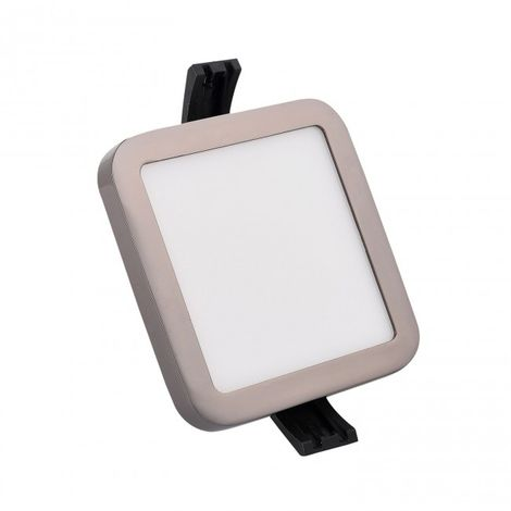 Minidownlight LED cuadrado 6W 4000K cromo