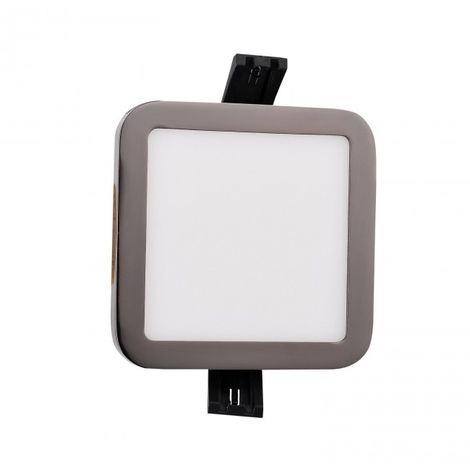 Minidownlight LED cuadrado 6W 4000k grafito negro