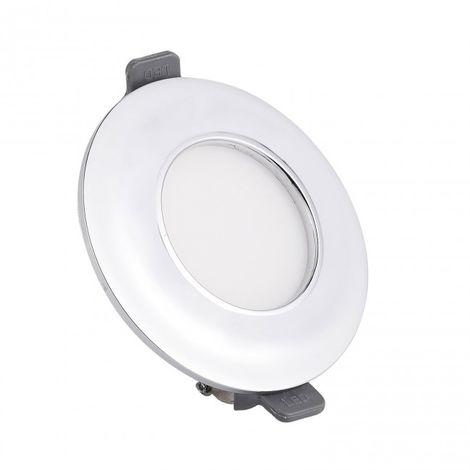 Minidownlight LED Moldura circular 5w 4000K cromo