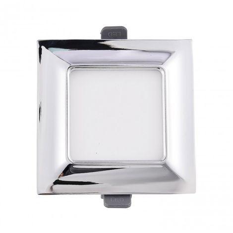 Minidownlight LED moldura cuadrado 5W cromo 4000k