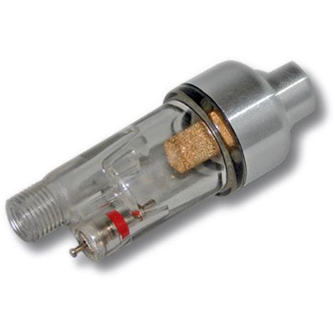 "Minifiltro de aire con separador de agua para compresor de aerografía rosca macho 9,51mm (1/8"")"