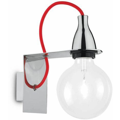 MINIMAL Chrome wall light 1 bulb