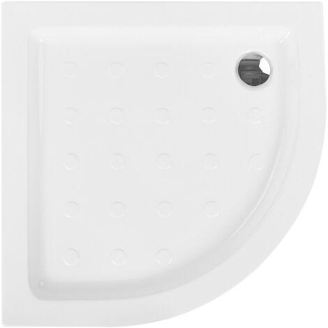 Minimalist Anti-Slip Shower Tray with Drain White 80 x 80 x 7 cm Siuna