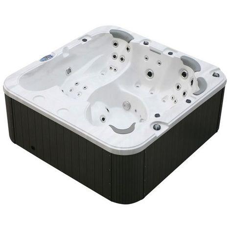 Minipiscina idromassaggio 230x230 cm whirlpool e airpool 6 posti cromoterapia riscaldatore