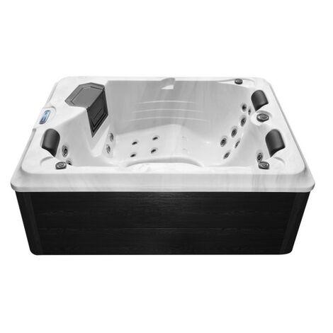 Minipiscina idromassaggio da cm 210x160 cm mini piscina 3 posti pompa whirlpool e airpool