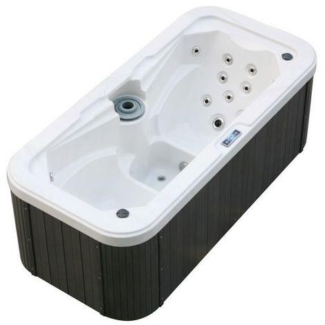 Minipiscina mini piscina Idromassaggio 210x100 cm 2 sedute con 24 getti ozonoterapia