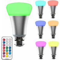 MiniSun 10w BC B22 LED Colour Changing RGB Light Bulb with Remote Control