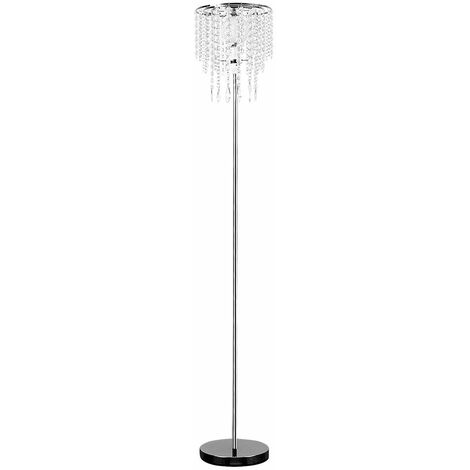 "main image of ""MiniSun - 150cm Floor Lamp Chrome Acrylic Droplet Shade Lighting"""