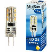 MiniSun 1.5w Energy Saving Long Life G4 LED Light Bulb - Warm White