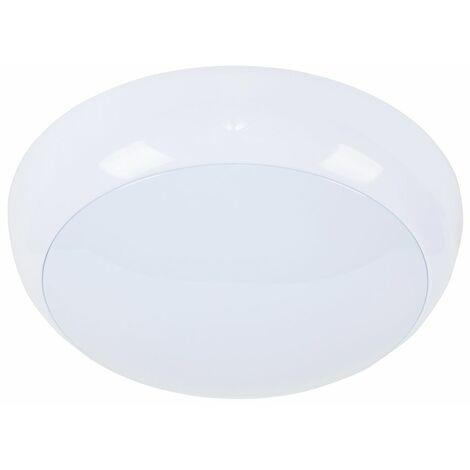 Minisun 15W LED White Frosted Lens Round Bulkhead Light