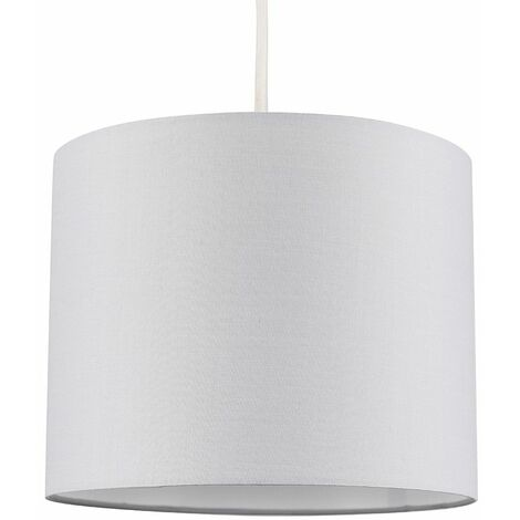 """main image of """"Easy Fit Pendant Light Shade 25cm Fabric Lampshade Table Lamp Ceiling"""""""