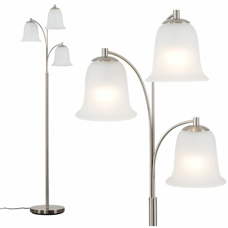 Minisun 3 Arm Floor Lamp Living Room Lounge Lighting Frosted Glass Shades