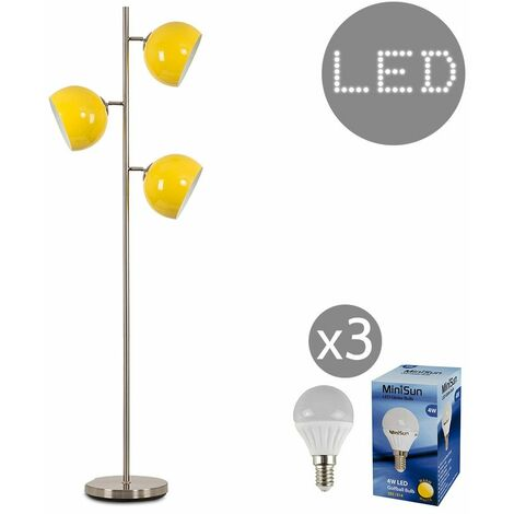 "main image of ""Elliott 3 Way Floor Lamp + 4W LED Golfball Bulbs"""