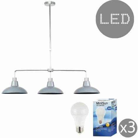 "main image of ""3 Way Kitchen Island Ceiling Pendant Light Shades LED Bulbs"""